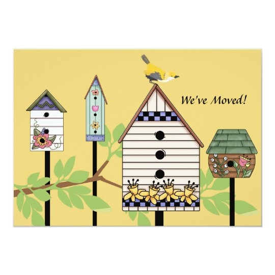 Painted Birdhouses Moving Announcement