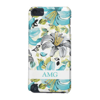 Painted Blue Lilies Pattern iPod Touch 5G Case