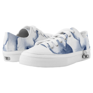 Painted Blue Petals Low Tops