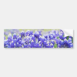 Painted Bluebonnet Long Sticker Bumper Sticker