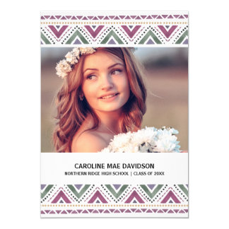 Painted Boho | Chic Watercolor Photo Graduation 13 Cm X 18 Cm Invitation Card