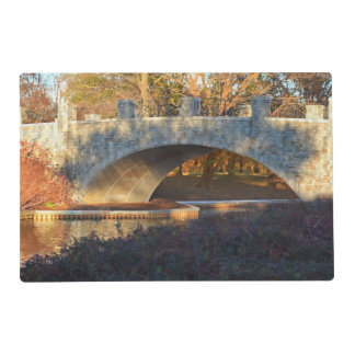 Painted Bridge At Sunset by Shirley Taylor Laminated Place Mat