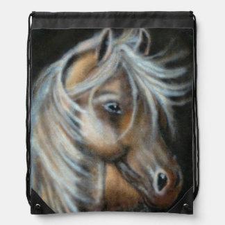 Painted brown horse rucksack