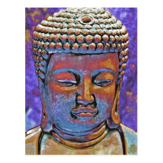 Painted Buddha Postcard