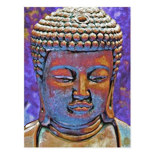 Painted Buddha Postcards