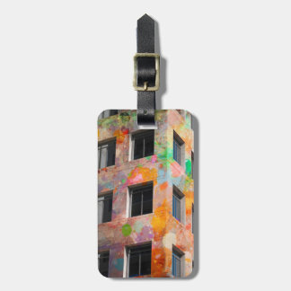 painted Building Luggage Tag