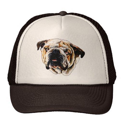 Painted Bulldog Face Hat