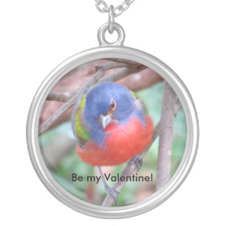Painted Bunting Valentine's Day Pendant