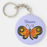 Painted Butterfly Personalised Key Chain