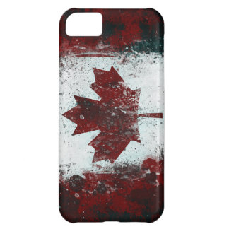 Painted Canadian Flag Case For iPhone 5C