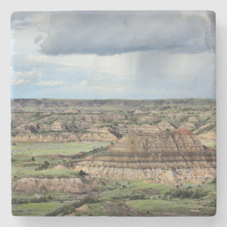 Painted Canyon in the Badlands of North Dakota Stone Coaster