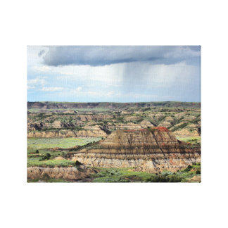 Painted Canyon in the Bandlands of North Dakota Stretched Canvas Prints