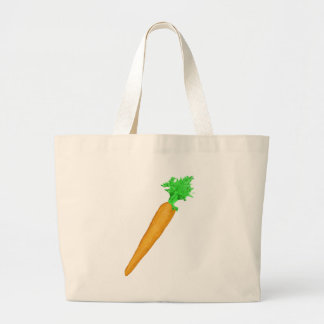 Painted Carrot Large Tote Bag