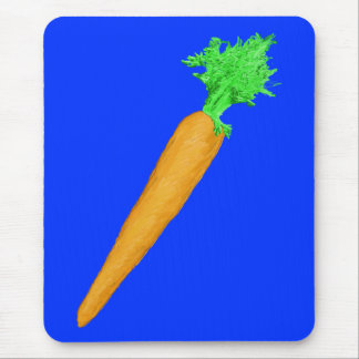 Painted Carrot Mouse Pad