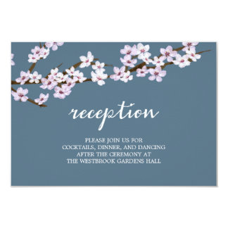 Painted Cherry Blossoms Wedding 9 Cm X 13 Cm Invitation Card