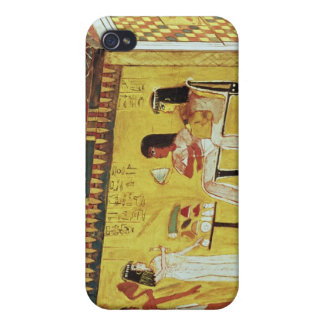 Painted chest with a banquet scene cases for iPhone 4