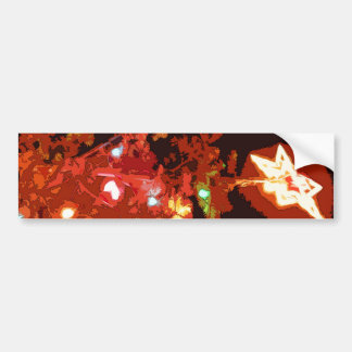 Painted Christmas Car Bumper Sticker