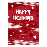 Painted Christmas | Non-Photo Folded Holiday Greeting Card