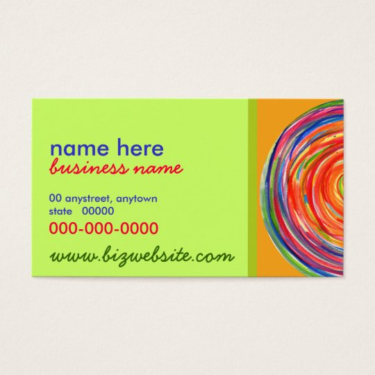 Painted Circle Business Card