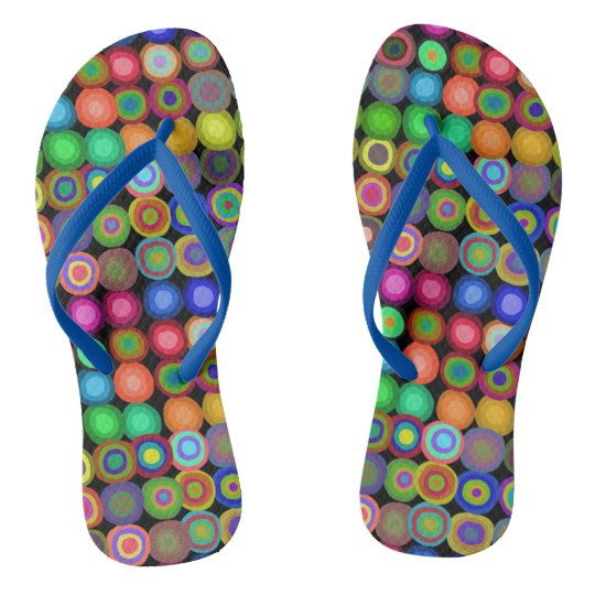 Painted Circles | Colourful Flip Flops
