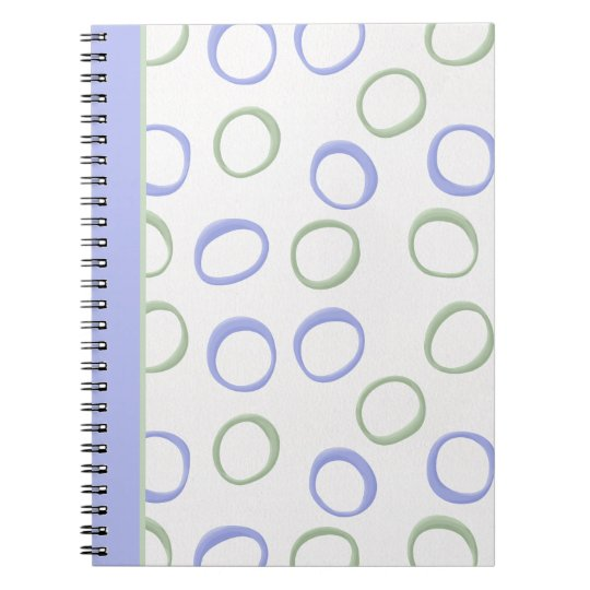 Painted Circles lavender Notebook