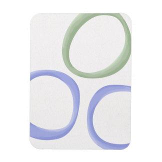 Painted Circles lavender Premium Magnet
