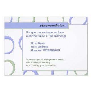 Painted Circles lavender Wedding Enclosure Card 9 Cm X 13 Cm Invitation Card