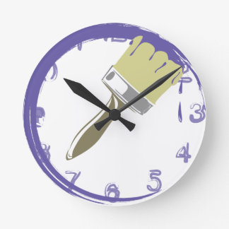 Painted clock, color VIOLET Round Clock