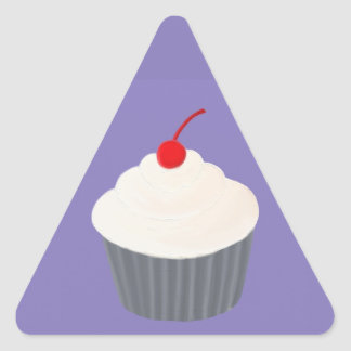 Painted Cupcake Triangle Sticker