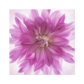 Painted Dahlia Art - Fuchsia Canvas Print