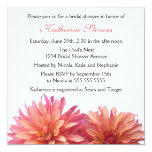 Painted Dahlia in Pink and Coral Bridal Shower 13 Cm X 13 Cm Square Invitation Card