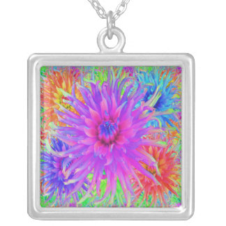 Painted Dahlias Necklace