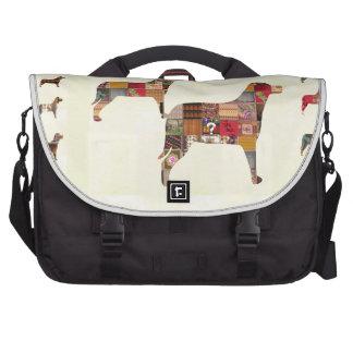 Painted DOGS Gifts Pet KIDS Festival Xmas Diwali Laptop Messenger Bag