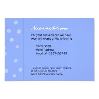 Painted Dots blue Wedding Enclosure Card 9 Cm X 13 Cm Invitation Card