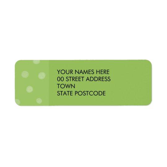 Painted Dots green Return Address Label