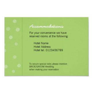 Painted Dots green Wedding Enclosure Card