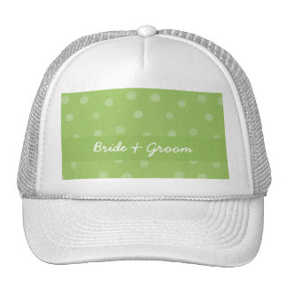 Painted Dots green Wedding Hat