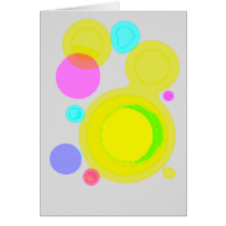 painted dots greeting card