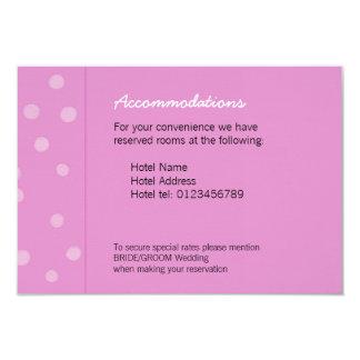 "Painted Dots pink Wedding Enclosure Card 3.5"" X 5"" Invitation Card"