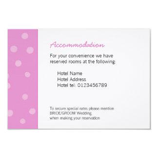 Painted Dots pink white Wedding Enclosure Card 9 Cm X 13 Cm Invitation Card