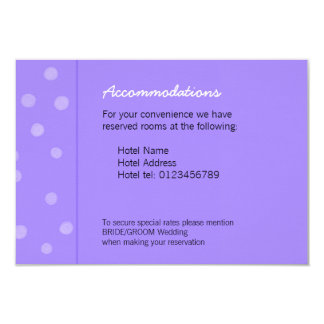 Painted Dots purple Wedding Enclosure Card