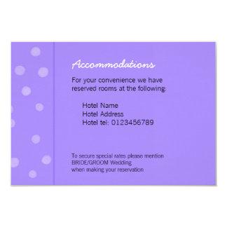 Painted Dots purple Wedding Enclosure Card 9 Cm X 13 Cm Invitation Card