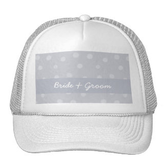 Painted Dots silvery gray Wedding Hat