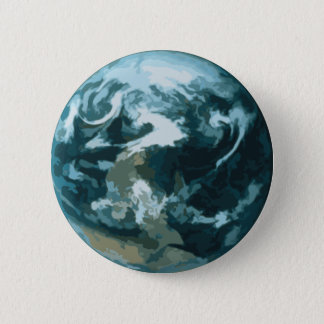 Painted Earth 6 Cm Round Badge