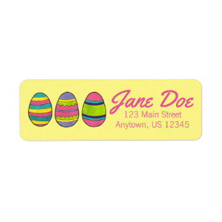 Painted Easter Egg Eggs Personalized Address Label