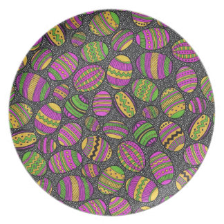 Painted Easter Eggs Plate