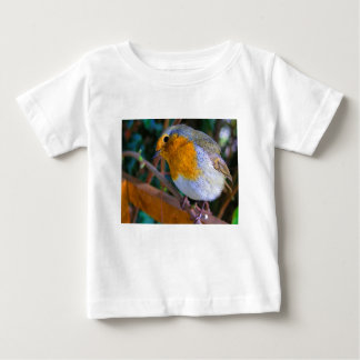 Painted Effect Robin Baby T-Shirt