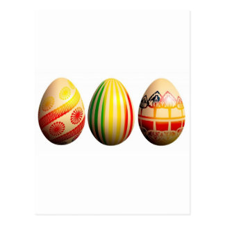 painted eggs postcard