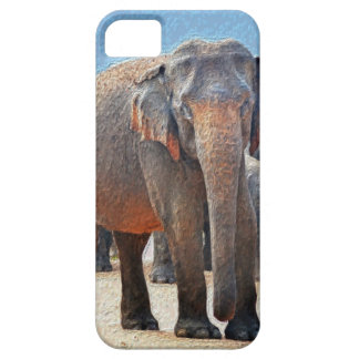 Painted Elephant in Desert iPhone 5 Cover