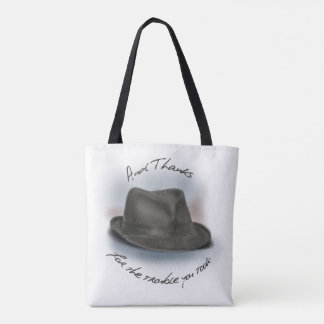Painted Fedora Hat For Leonard. Tote Bag